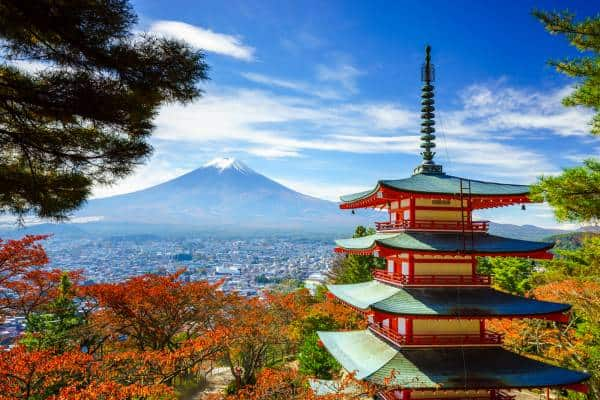 cheap family holidays to Japan Mt. Fuji