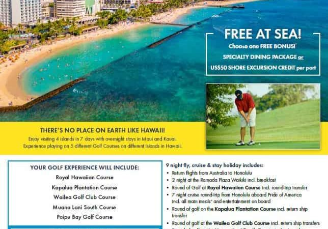 Hawaiian Islands Golf Cruise 2019